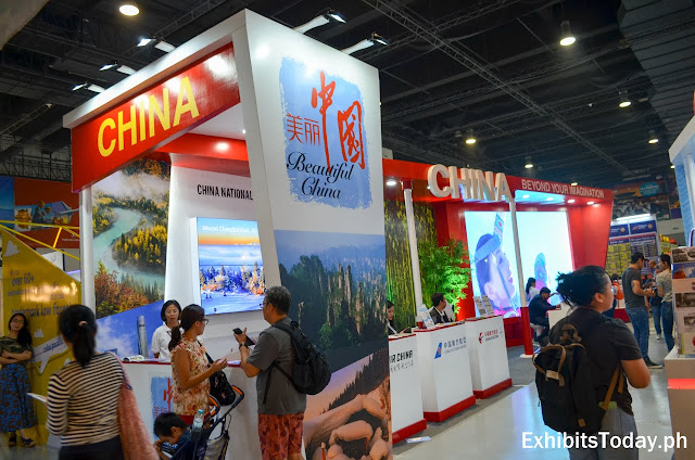 China National Tourism Office trade show display