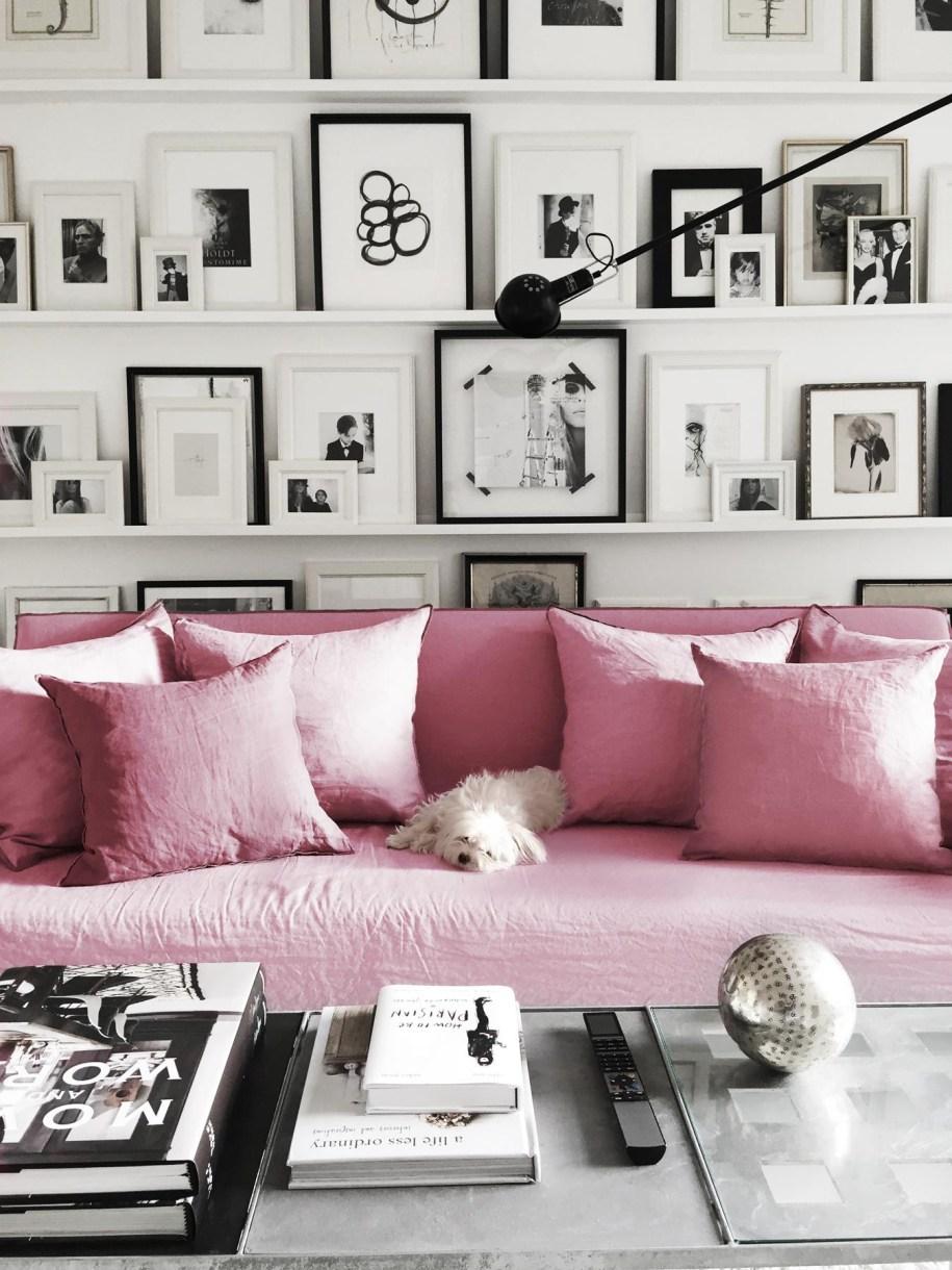 Fabuloso contraste entre blanco y negro y rosa