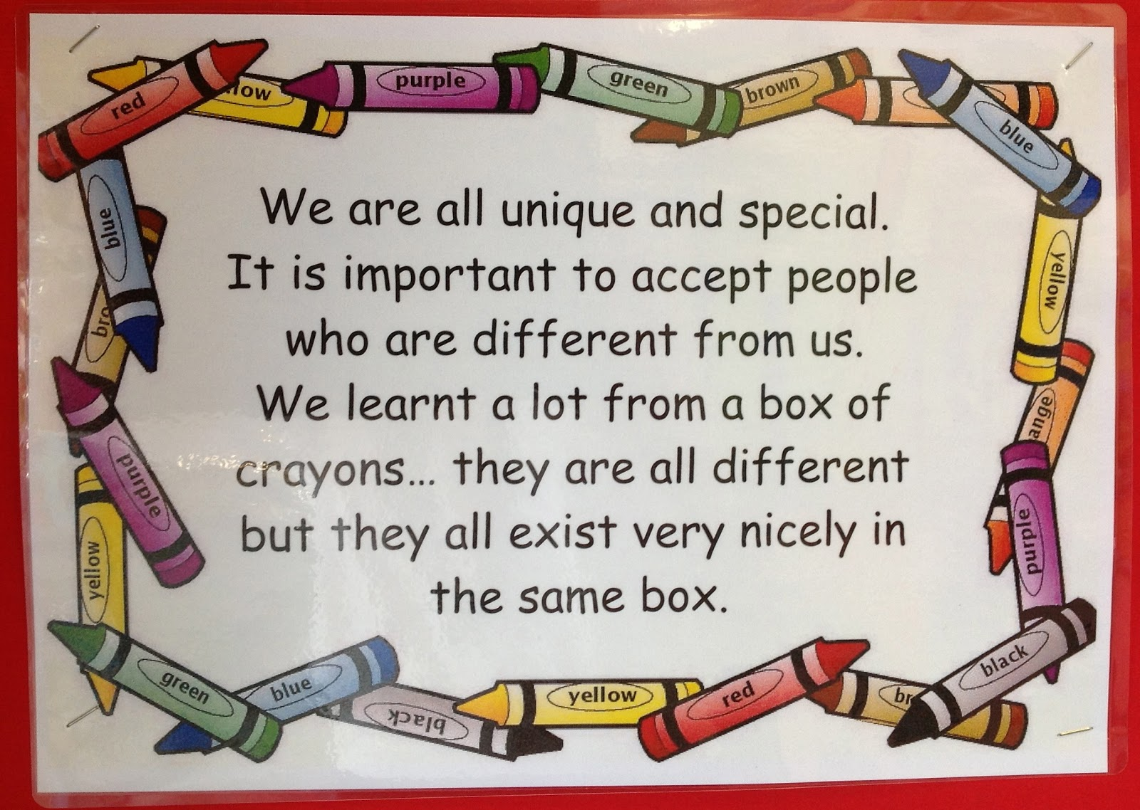 Kids With A View: Our Class Crayon Box