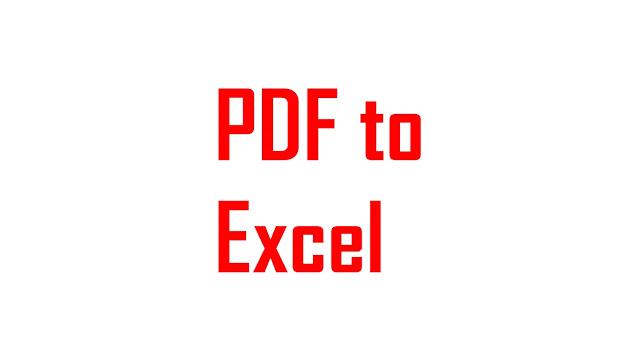 cara merubah file pdf ke excel