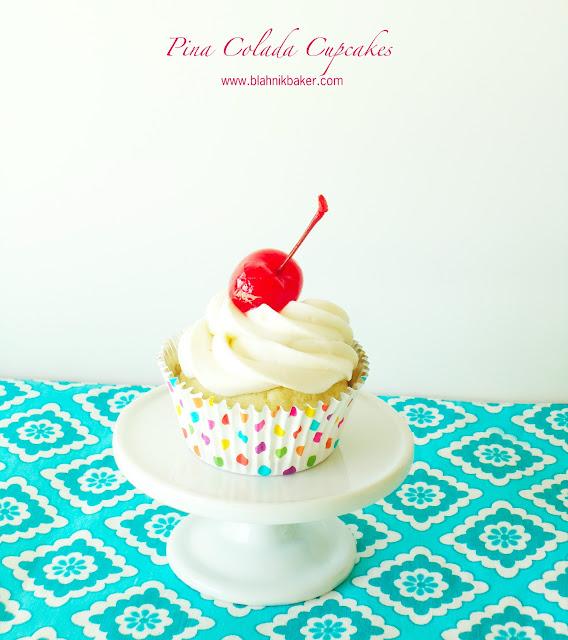 Piña Colada Cupcakes || Recipe on BlahnikBaker.com