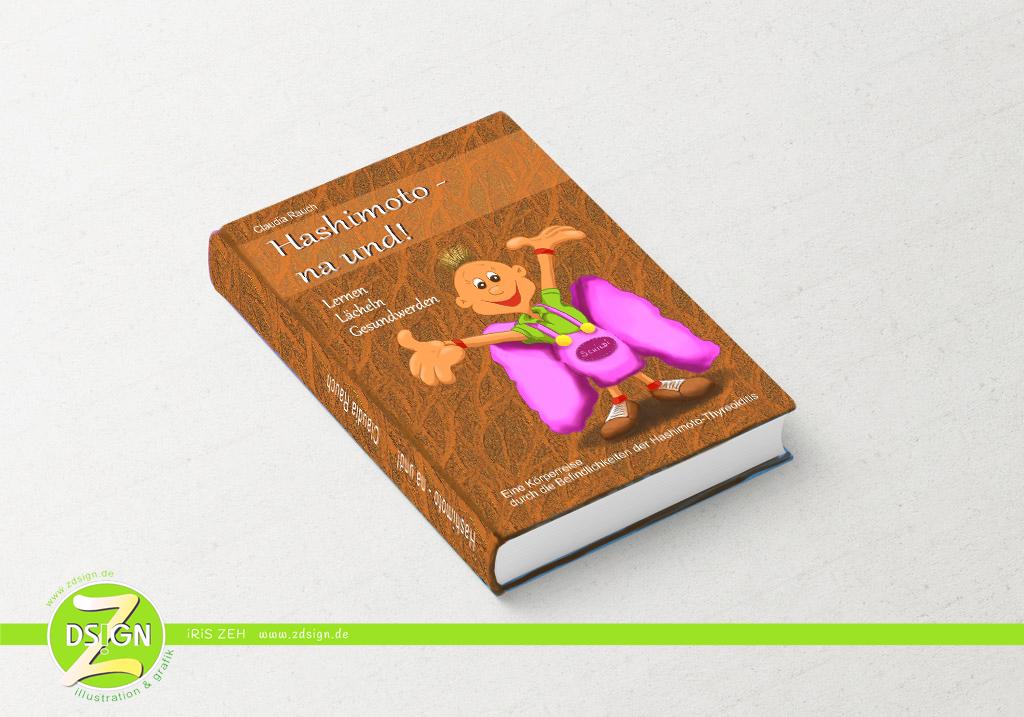 Buchillustration-und-covergestaltung-zum-thema-schilddrüsenerkrankung-hashimoto