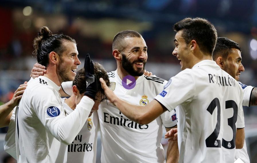 بالفيديو : ريال مدريد يمزق شباك مضيفه بلزن بخماسية