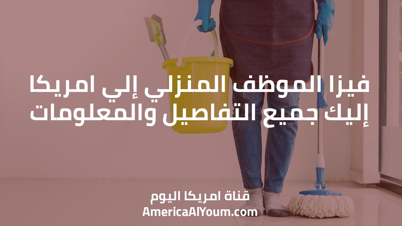 فيزا الموظف المنزلي إلي امريكا.. إليك جميع التفاصيل والمعلومات
