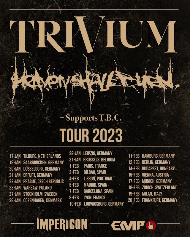 Tour de Trivium e Heaven Shall Burn adiada para 2023