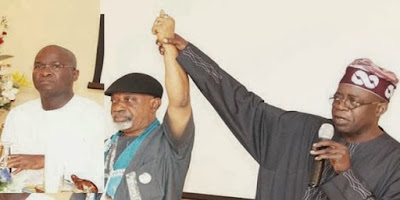 Throwback Photo of Tinubu Endorsing Ngige for Anambra Governorship Election in 2010