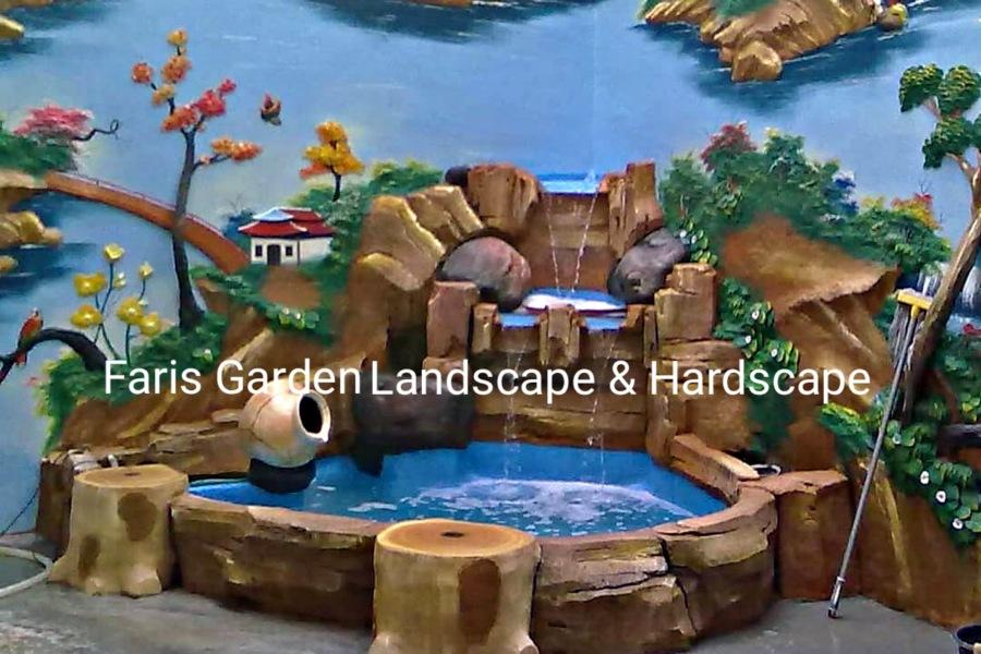 Jasa Tukang Kolam Relief Tebing Tuban | Jasa Pembuatan Dekorasi Kolam Air Terjun di Tuban