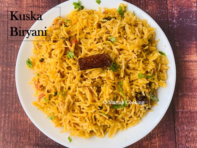 Kuska Biryani Recipe | Plain Biryani Recipe | Kuska Rice Recipe | Startup Cooking