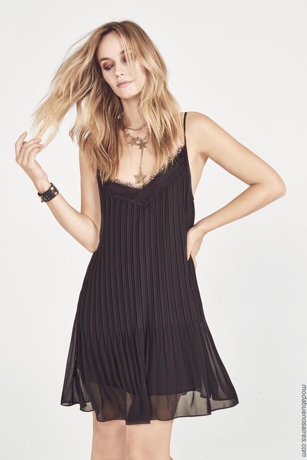 Moda vestidos cortos de noche Rapsodia primavera verano 2019.