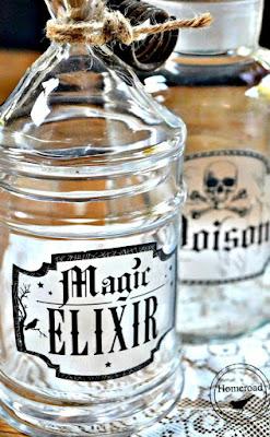 Pin for Elixir bottles for Halloween