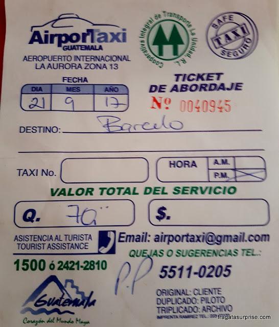 Guatemala - Táxis no Aeroporto