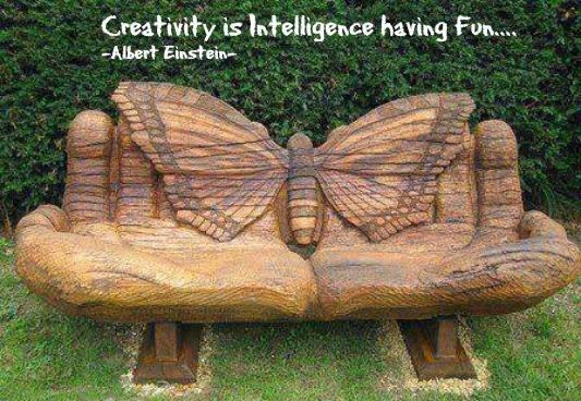 Criatividade é a inteligência brincando Albert Einstein