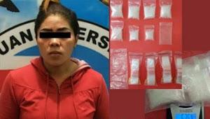 Malam Lebaran Wanita Bandar Narkoba Disikat Polres Lahat