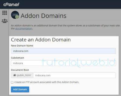Cara Membuat Addon Domain 2 pilih Add Domain