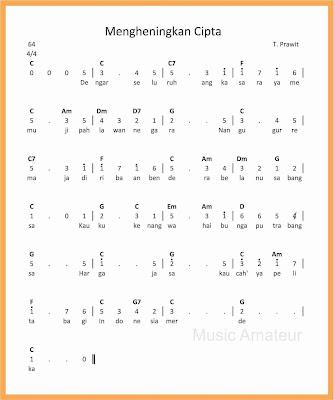 not angka lagu mengheningkan cipta