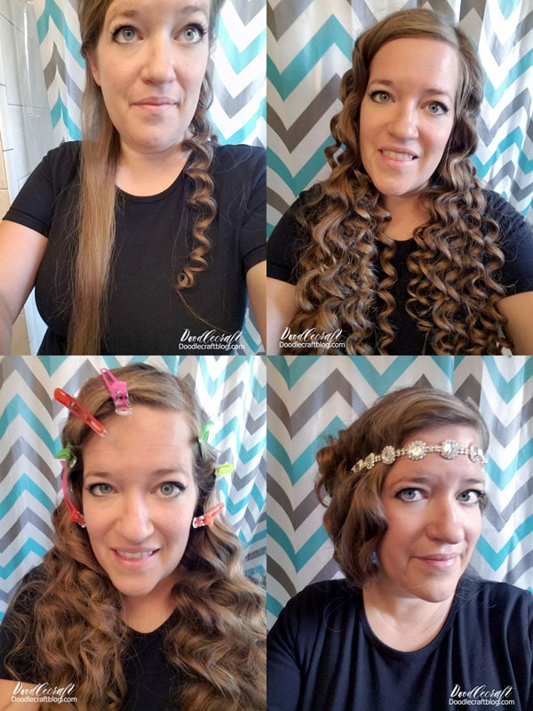 How to do your hair for a Downton Abbey Inspired 1920's Flapper Garden Party Girls Night and all the details on how to host your own!