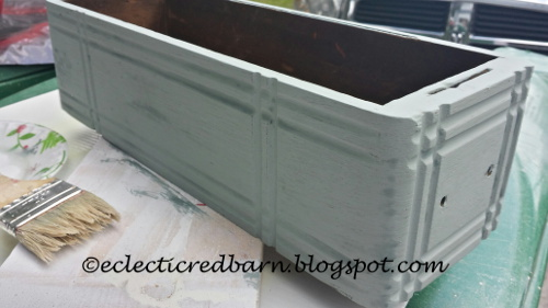painted sewing drawer from Eclectic Red Barn