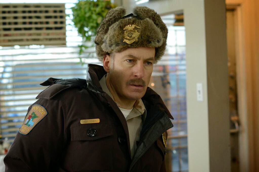 Bob Odenkirk as Chief of Police Bill Oswalt in Fargo Season 1 Finale Episode 10 Morton's Fork