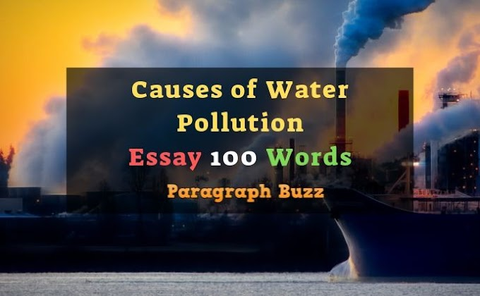 Causes of Water Pollution Essay in 100 Words for Kids