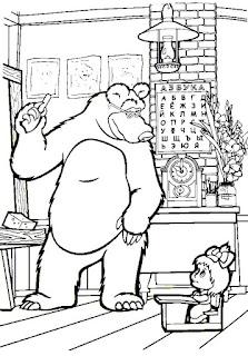 מאשה והדוב מישה לצביעה