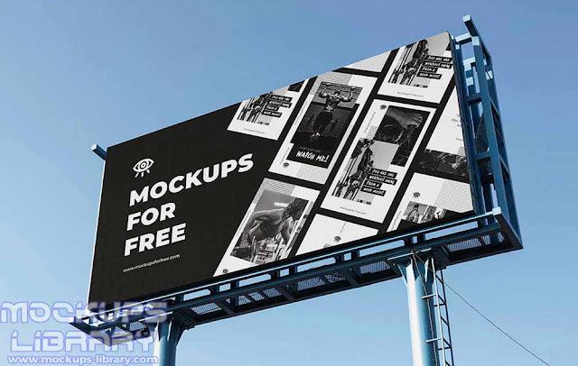 standard billboard mockup