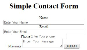 Create Contact Form With Php & Html