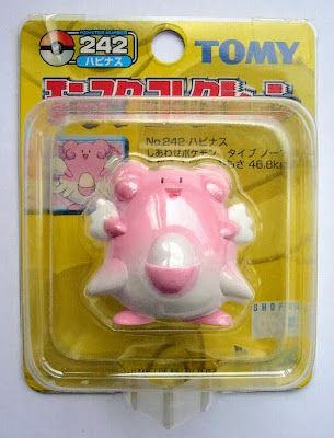 Blissey Pokemon figure Tomy Monster Collection yellow package series