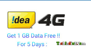 Idea Free Internet 1GB Data For 5 Days