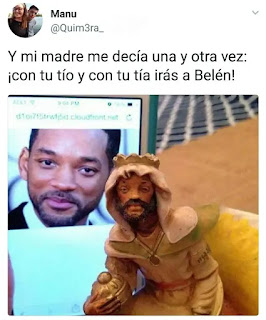 Estatuilla con la cara de Will Smith
