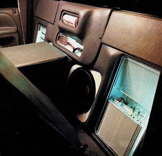 image in color of the interior of Matt Billmeier's 1995 Dodge Ram truck highlighting the equipment behind the driver's seat