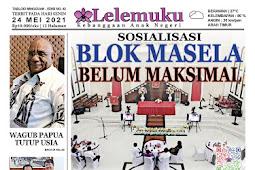 Tabloid Lelemuku #42 - Sosialisasi Blok Masela Belum Maksimal  - 24 Mei 2021