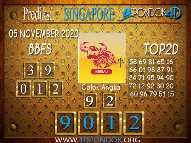 Prediksi Togel SINGAPORE PONDOK4D 05 NOVEMBER 2020