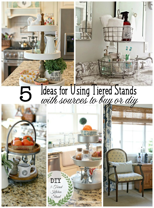 Ideas For Using Tiered Stands Organization All Over The House