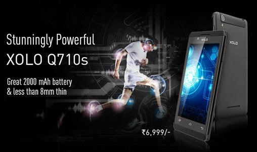 XoloQ710s: 4.5 inch,1.3 GHz Quad Core Android Phone Specs, Price