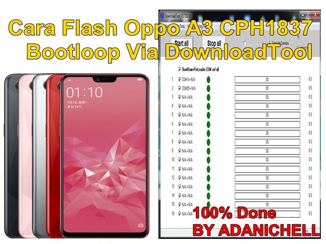 Cara Flash Oppo A3 CPH1837 Bootloop Via DownloadTool