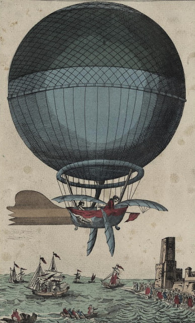 Illustration of early balloonists