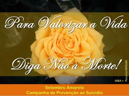 Setembro Amarelo - Mês da Campanha de Prevenção ao Suicídio