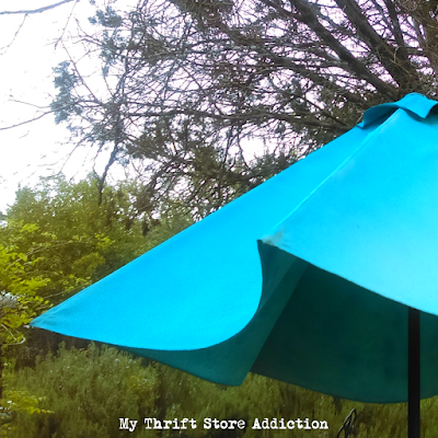 Painted umbrella upcycle