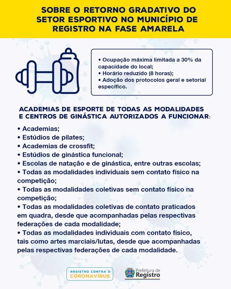Esportes com contato físico são liberados com restrições em Registro-SP