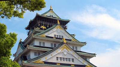 istana osaka jepang