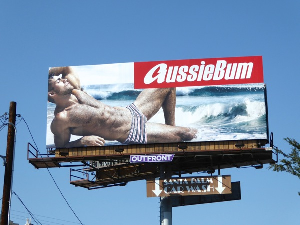 AussieBum Andrew Pap swimming trunks 2016 billboard