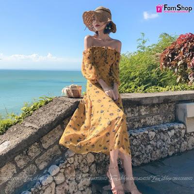 Váy maxi đi biển V290
