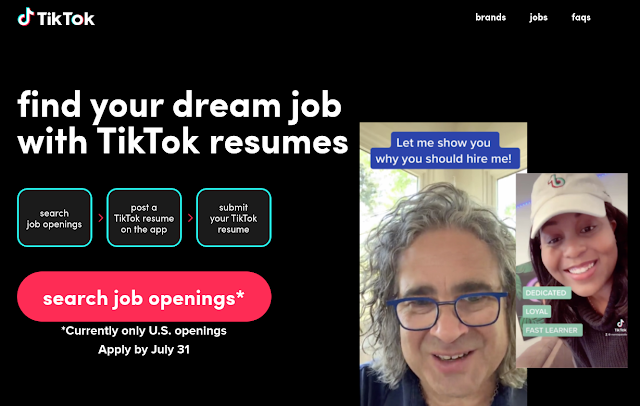 TikTok Resumes facilite le CV Vidéo et la candidature à des offres d'emploi