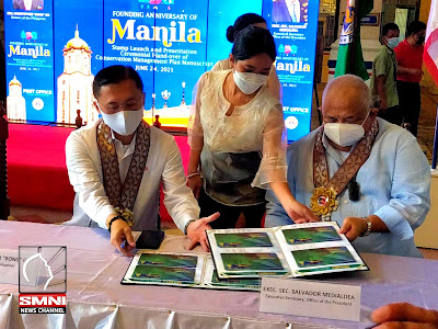 Senator Bong Go with event sash during the event of Philippine Postal Corporation