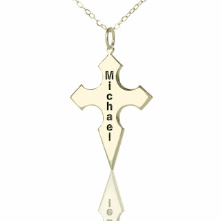 customized cross necklace