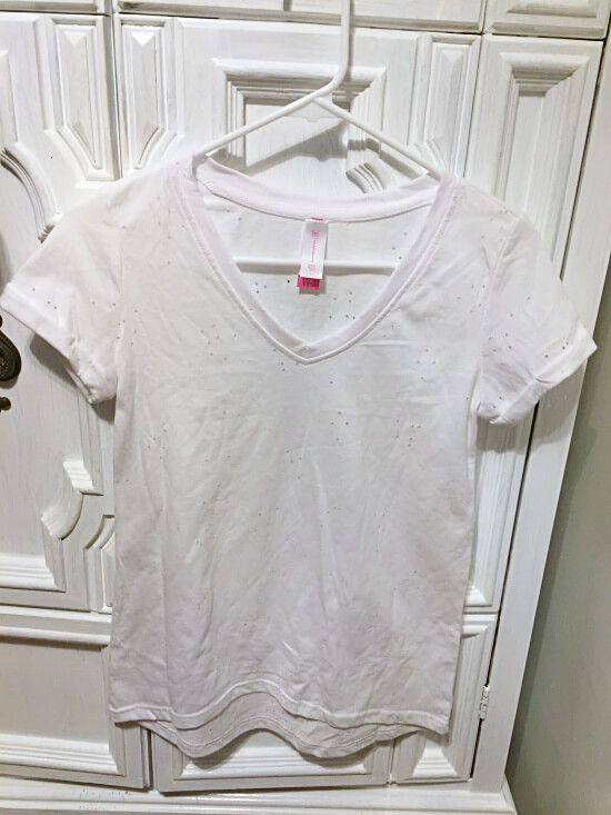 Walmart No Boundaries Destructed Tee white