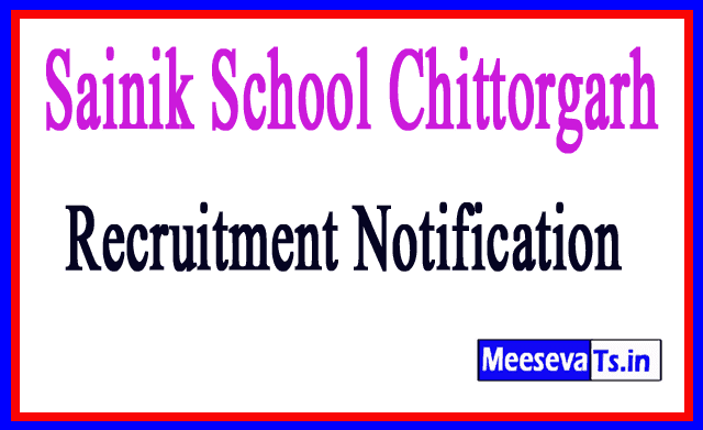 Sainik School Chittorgarh Recruitment Notification