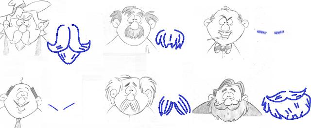 tipos de bigodes para desenhar