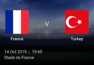 LIVE MATCH: France Vs Turkey UEFA Euro 2020 Qualifiers 14/10/2019