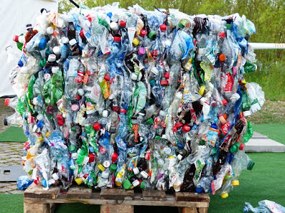 A bunch of plastic waste
